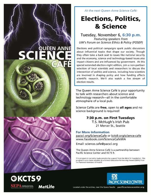 Science Cafe flyer